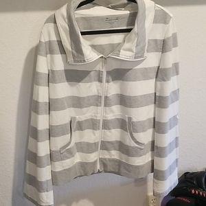 Exertek striped zip up size XL